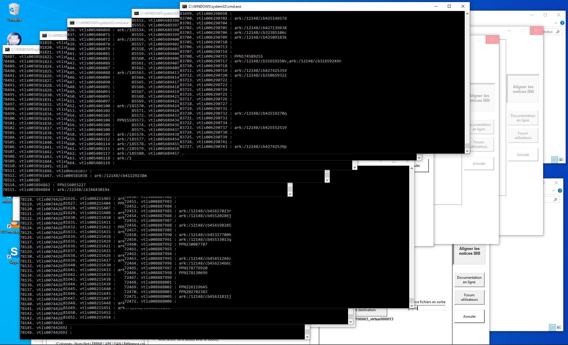 Screenshot von Bibliostratus am Werk auf einem unserer PC