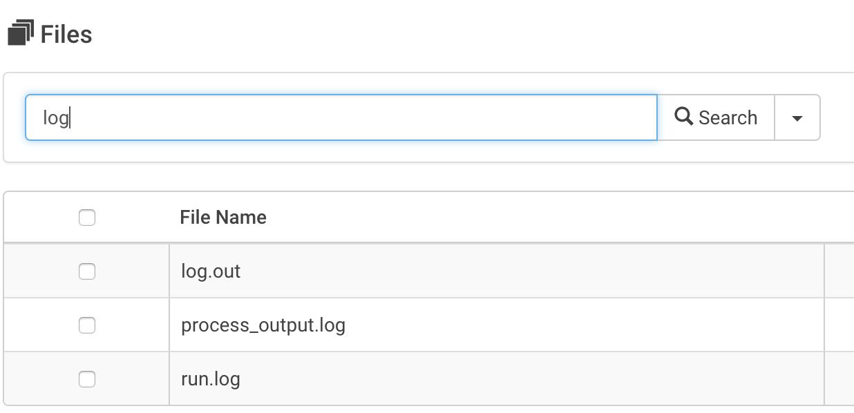 Job logs