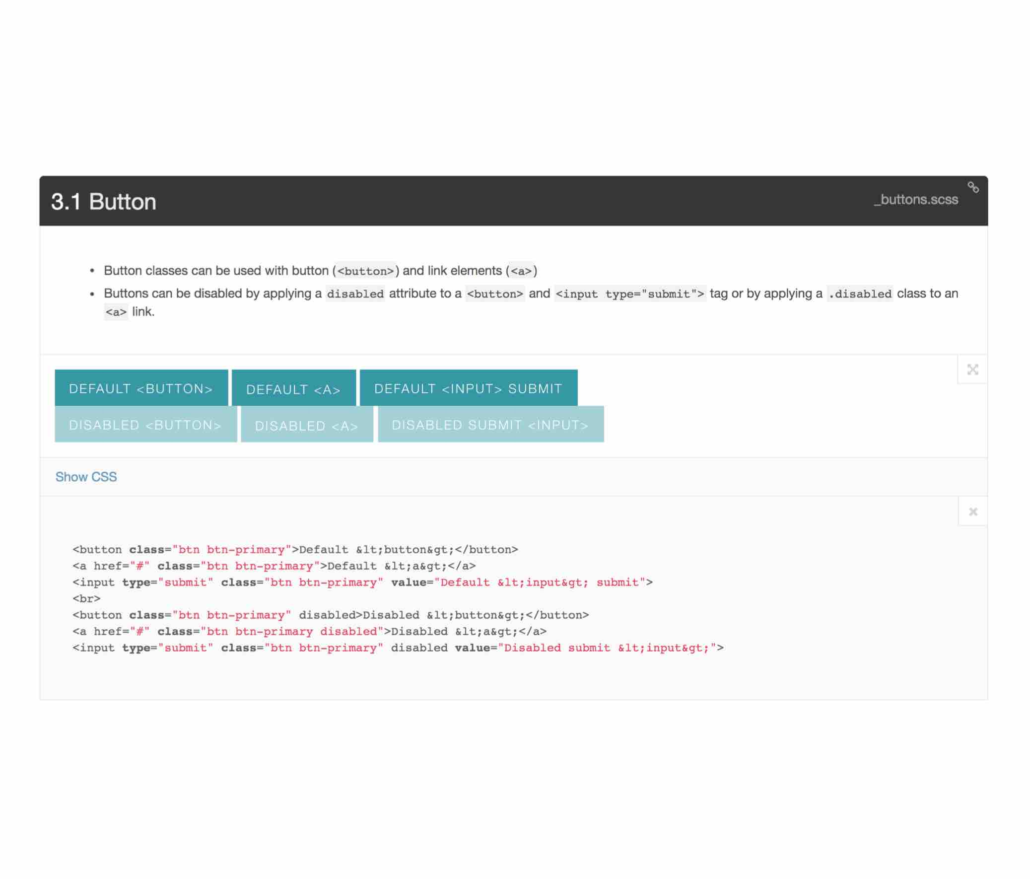 Button input example