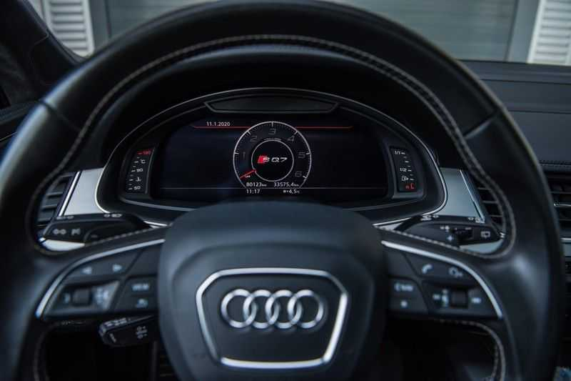 Audi SQ7 4.0 TDI Quattro Pro Line + , 435 PK, Valcona/Leder, Pano/Dak, 2017, Bose, 22'', Elekt. Trekhaak, 79DKM!! afbeelding 14