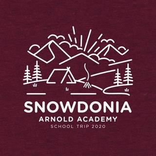 School trip hoodie design an illustrated outdoors scene