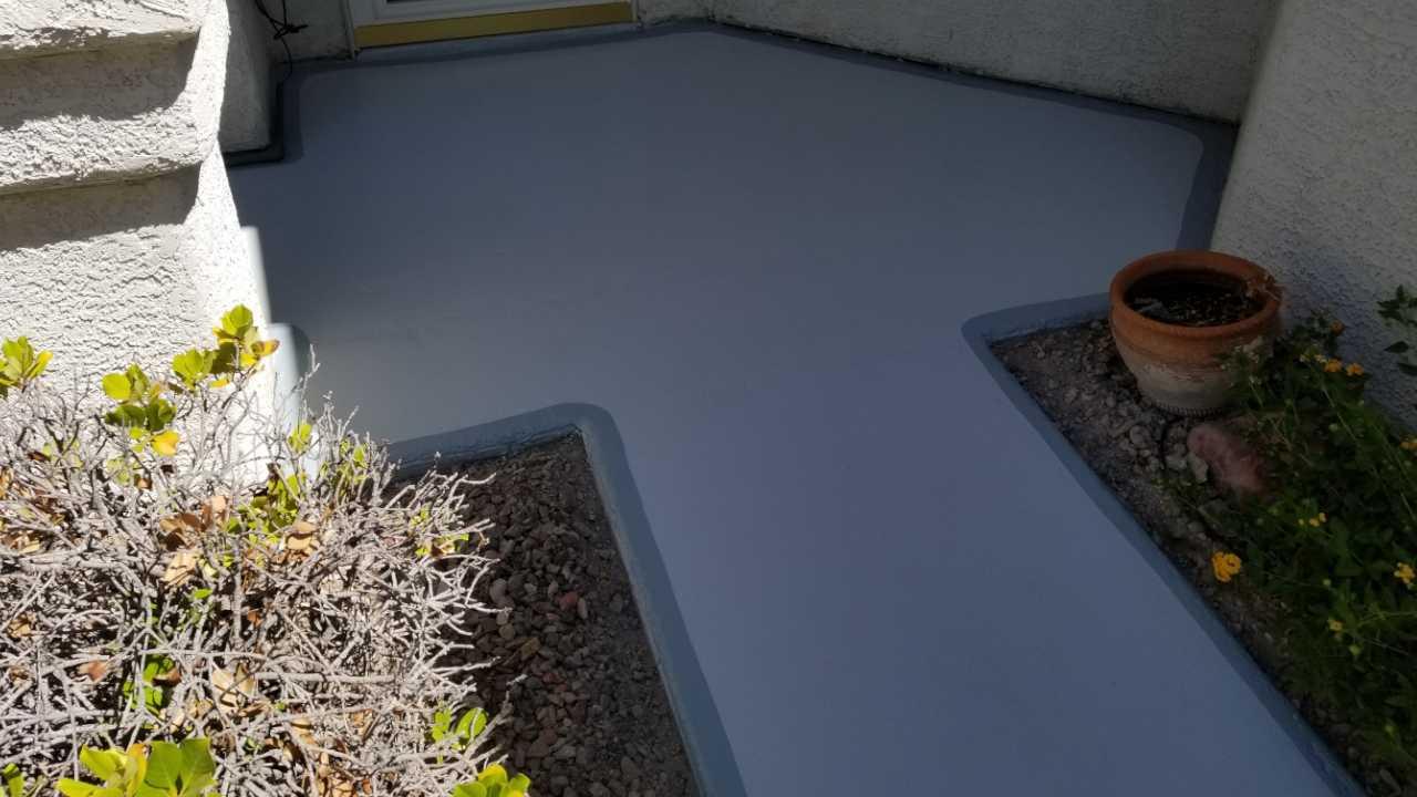 Closeup shot of doorway concrete after restoration