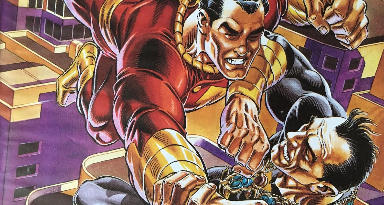 capa de Shazam A Origem Capitão Marvel mostrando Adao negro