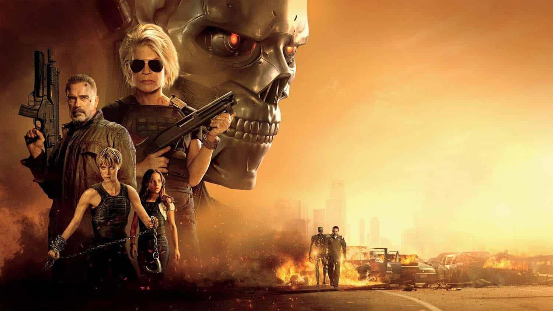 Arte do filme O Exterminador do Futuro Destino Sombrio