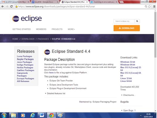 Eclipse standard 4.4