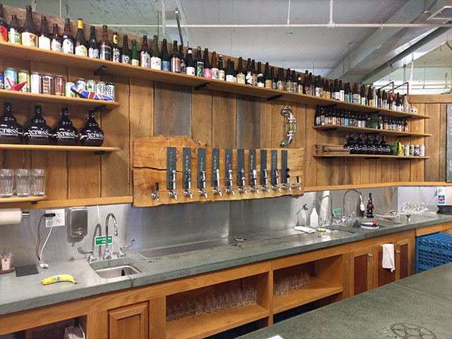 The taproom bar