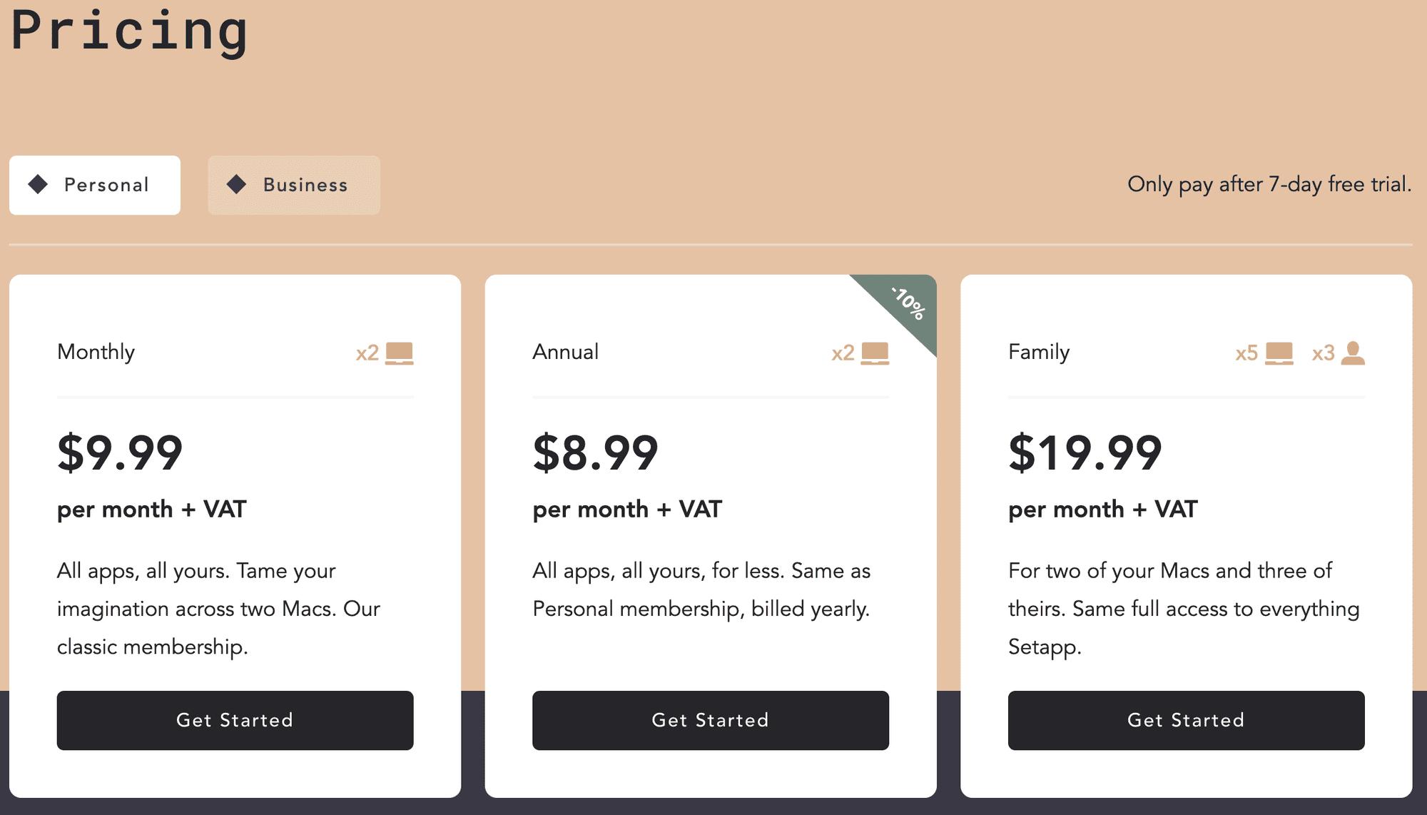 Setapp Pricing