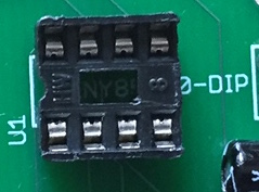 DIP socket on board
