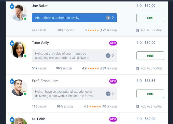 essaypro.com bidding