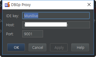 DBGp Proxy Configuration