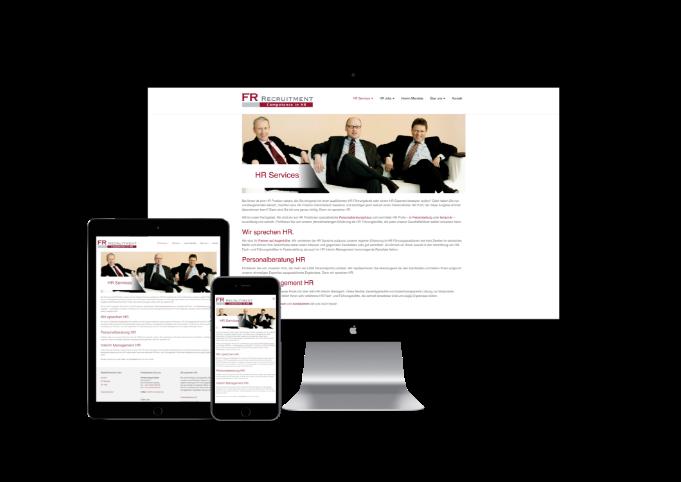 Bild von Website der FR Recruitment GmbH