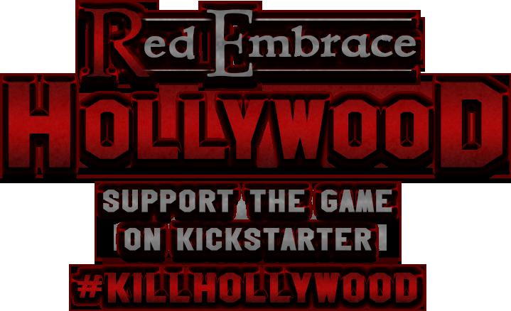 Red Embrace: Hollywood Kickstarter logo