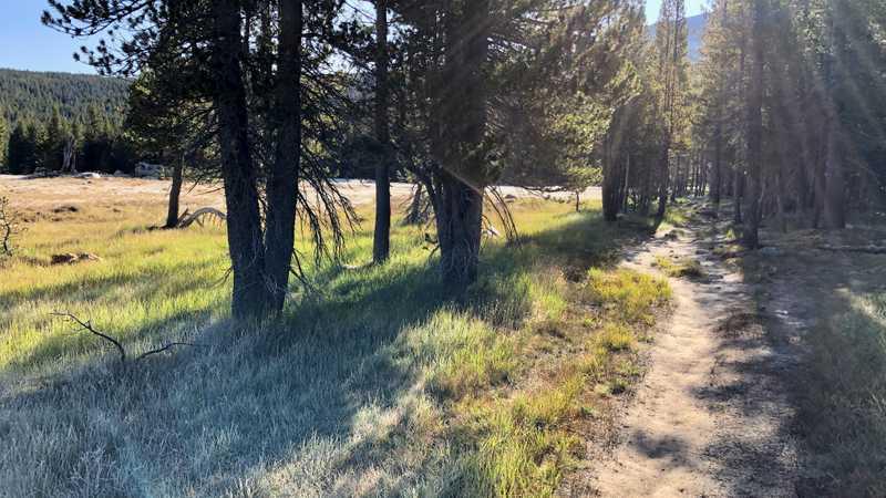 Crossing Tuolumne Meadows