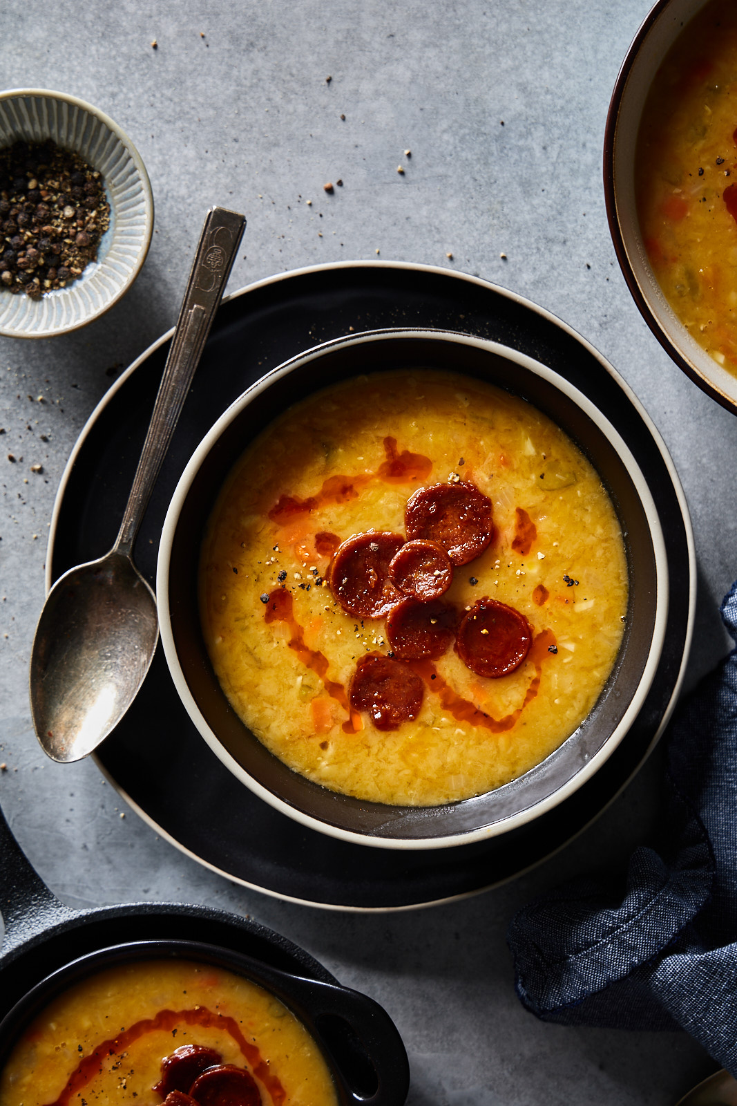 Smokey Red Lentil and Chorizo Soup