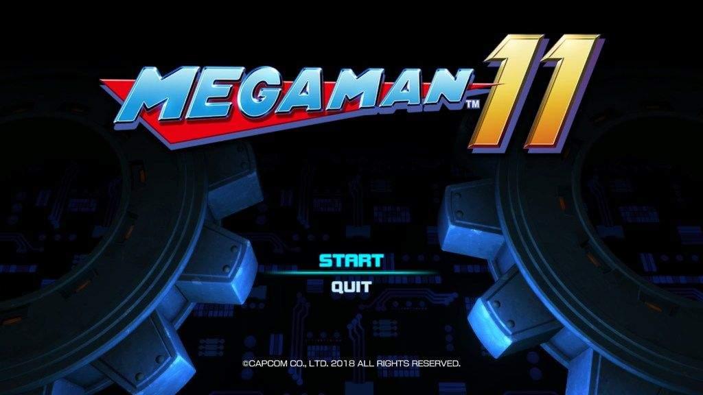 Screenshot of the Mega Man 11 title screen