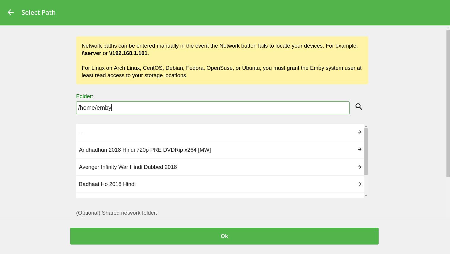 Emby Server Setup