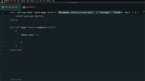 Initialize a JavaScript component with declarative notation