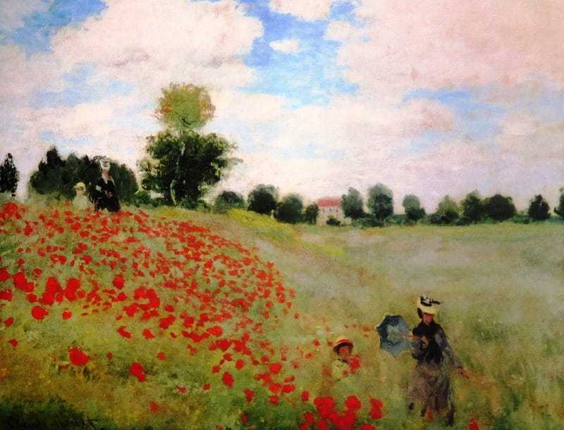 Monet's painting of a poppy field, completed in 1873