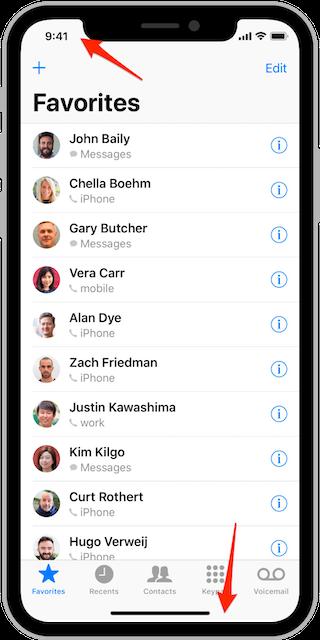 iOS gesture-based navigation
