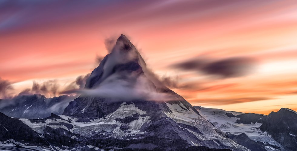 beautiful, gigantic mountain peak