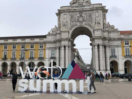 Futrli team pose at Web Summit Lisbon Portugal 2019 tech conference