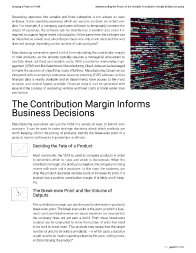 Keeping a Pulse on Profit: Understanding the Power of the Variable Contribution Margin in Manufacturing Right