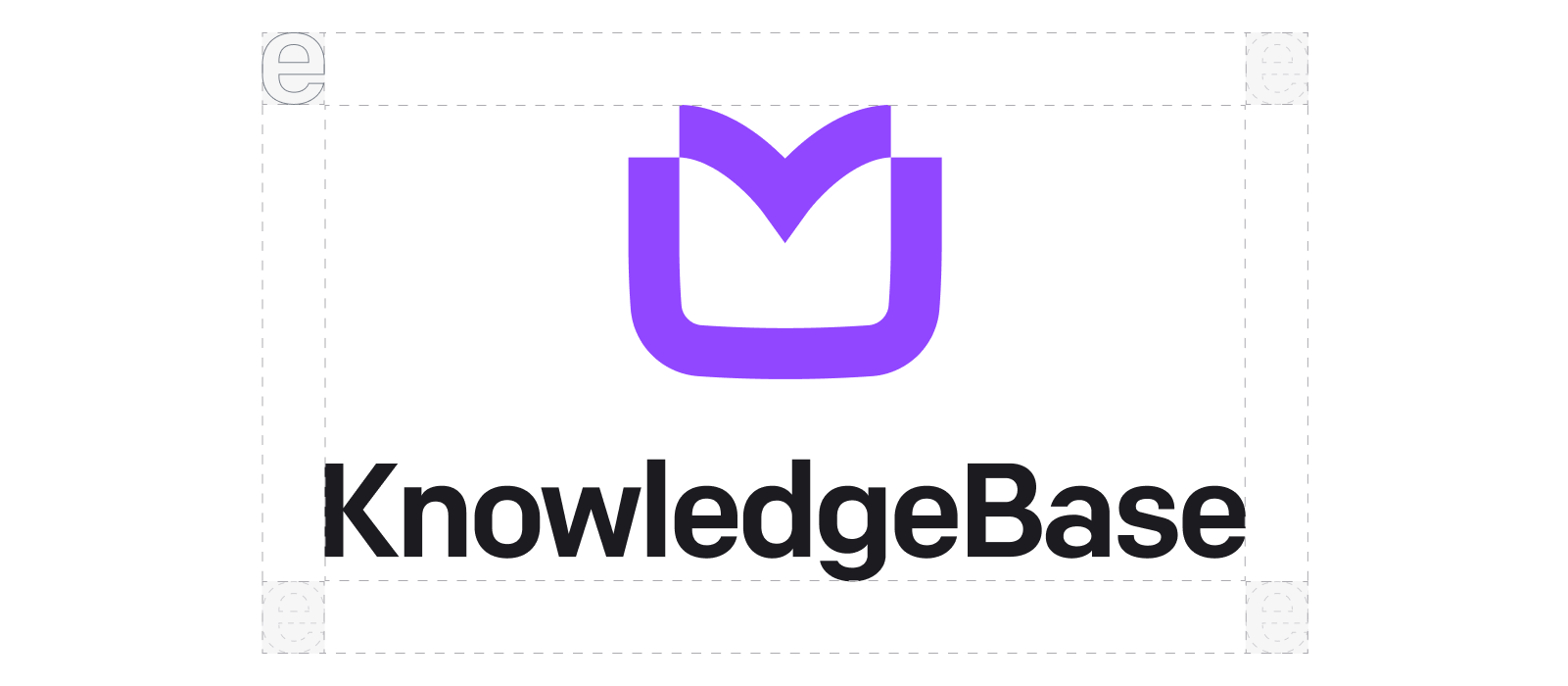 KnowledgeBase logo clear space