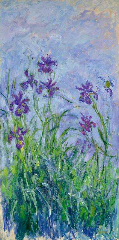 Monet's Purple Irises, a preparatory work for his water lily series, sold in June 2015 for £10.8 million.