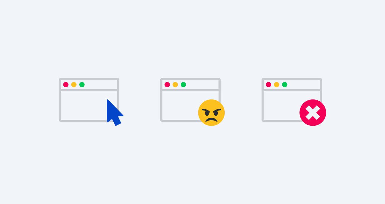 Clicks, Rage clicks and Error clicks on dashboard