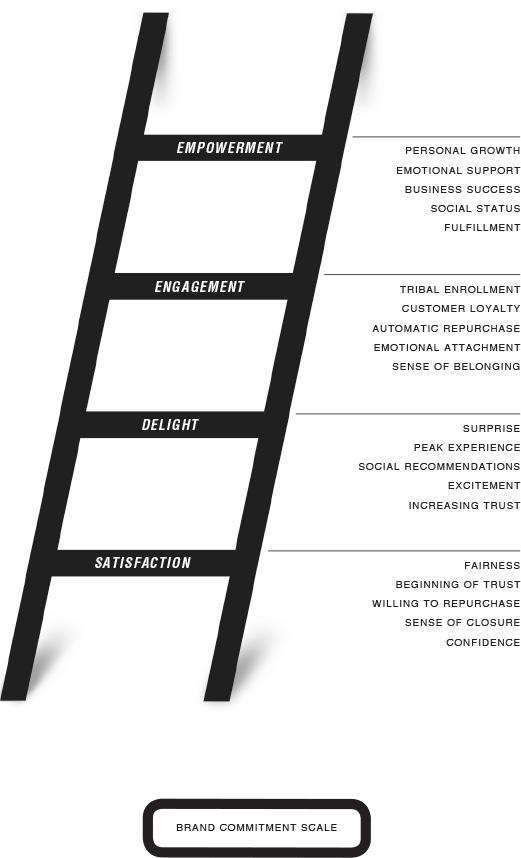 Measuring branding with brand ladder