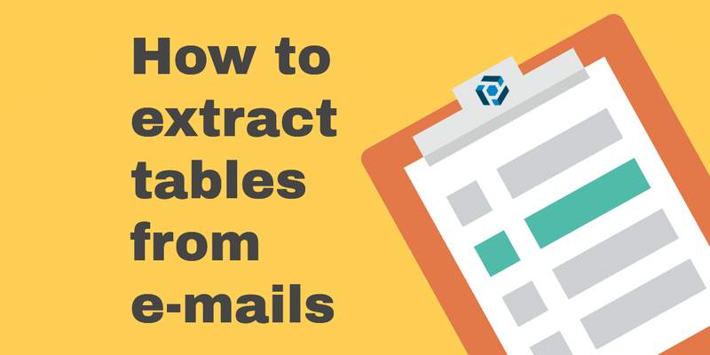 Extract tables from emails cover image