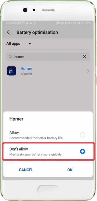 Huawei Step 1 Battery Optimisation