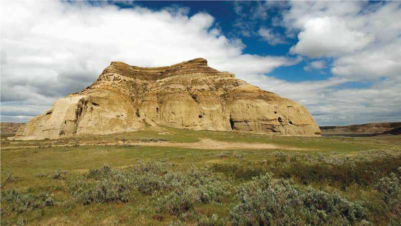 Big Muddy hill at high altitude in Saskatchewan
