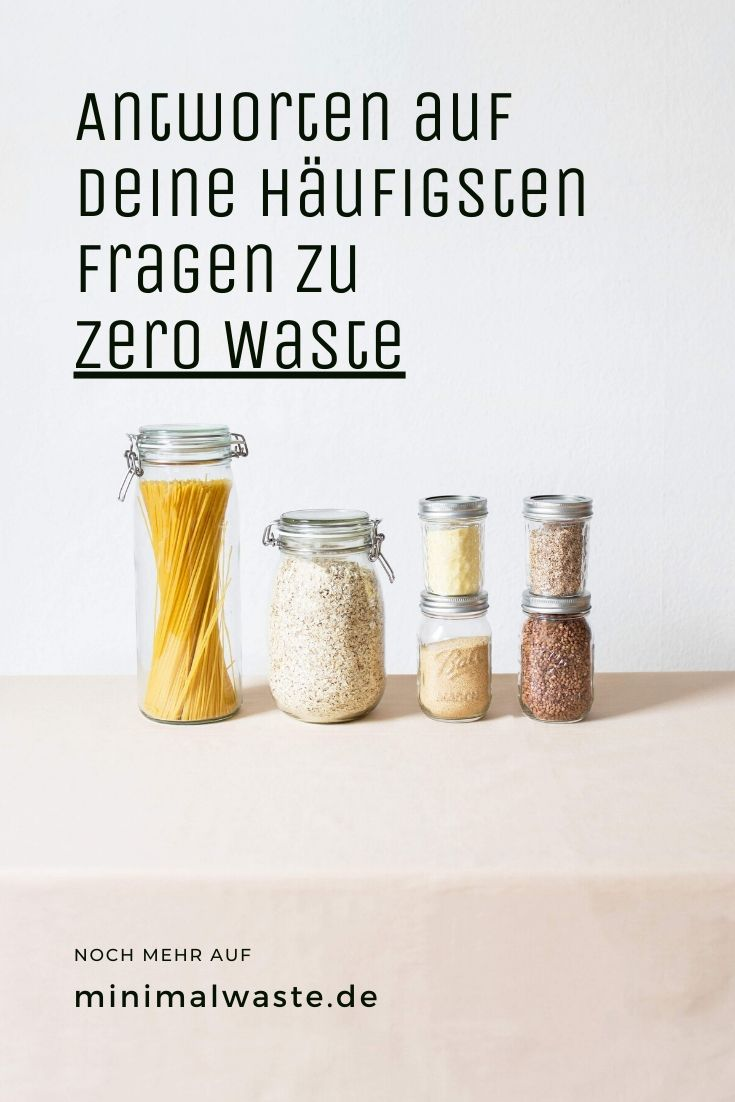Pinterest Cover zu 'Zero Waste FAQ'