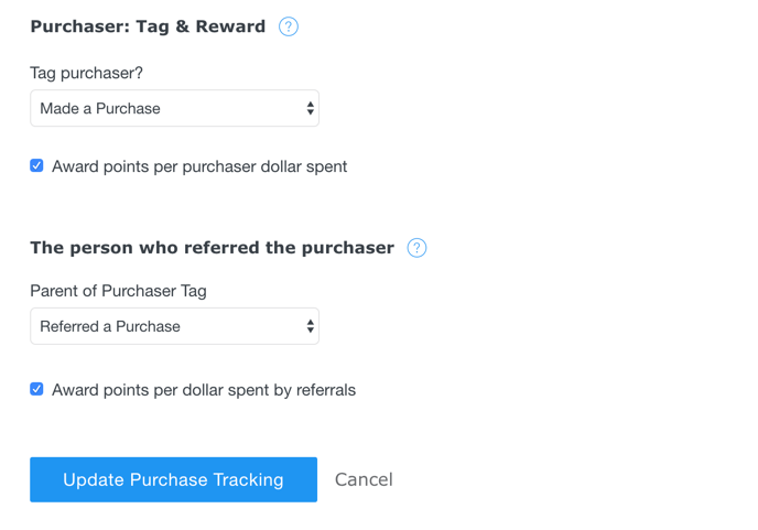 Shopify Settings Page