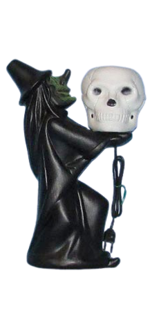 Electric Lite-Up Witch With Skull photo