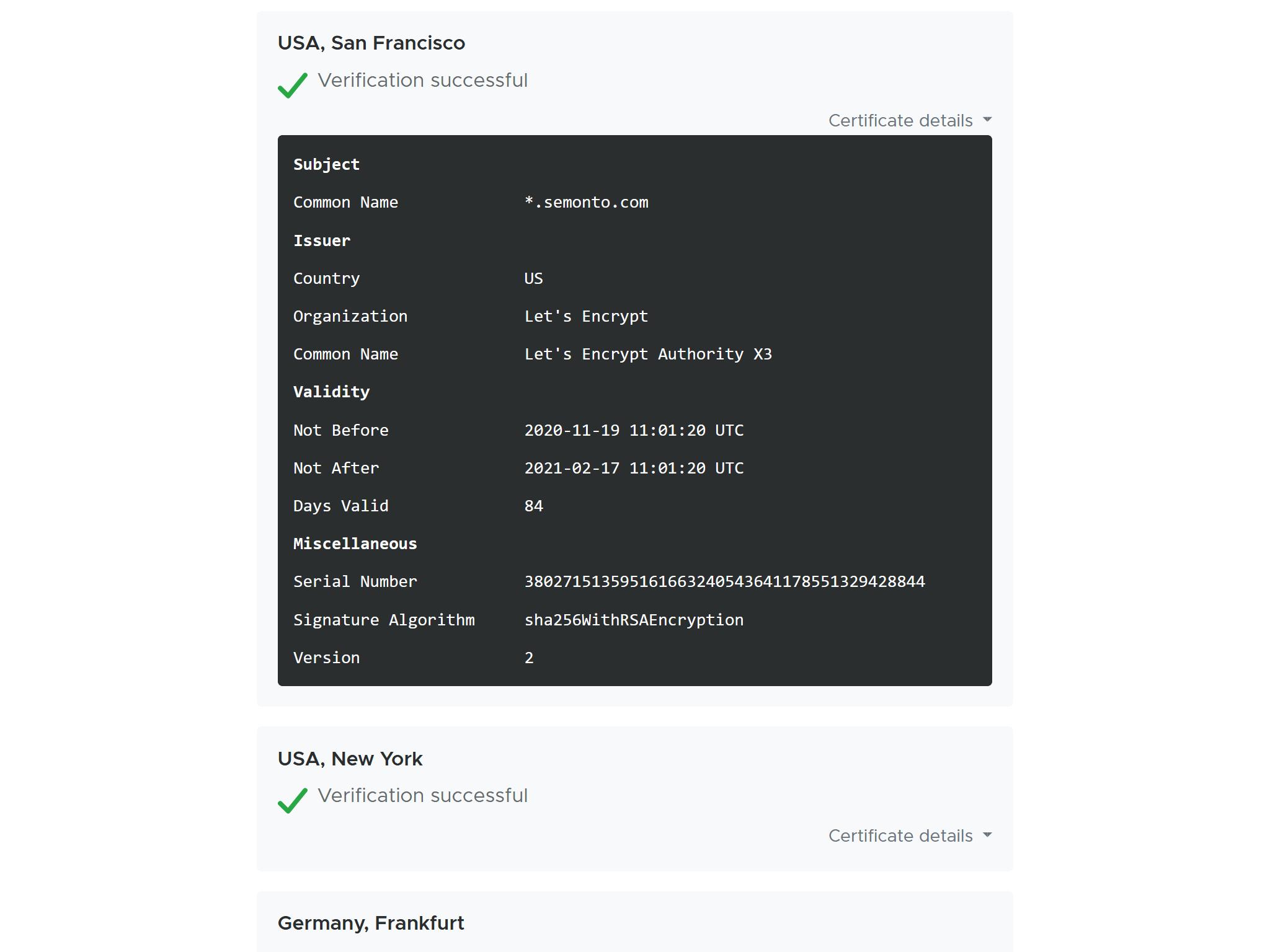Screenshot of HTTPS-checker