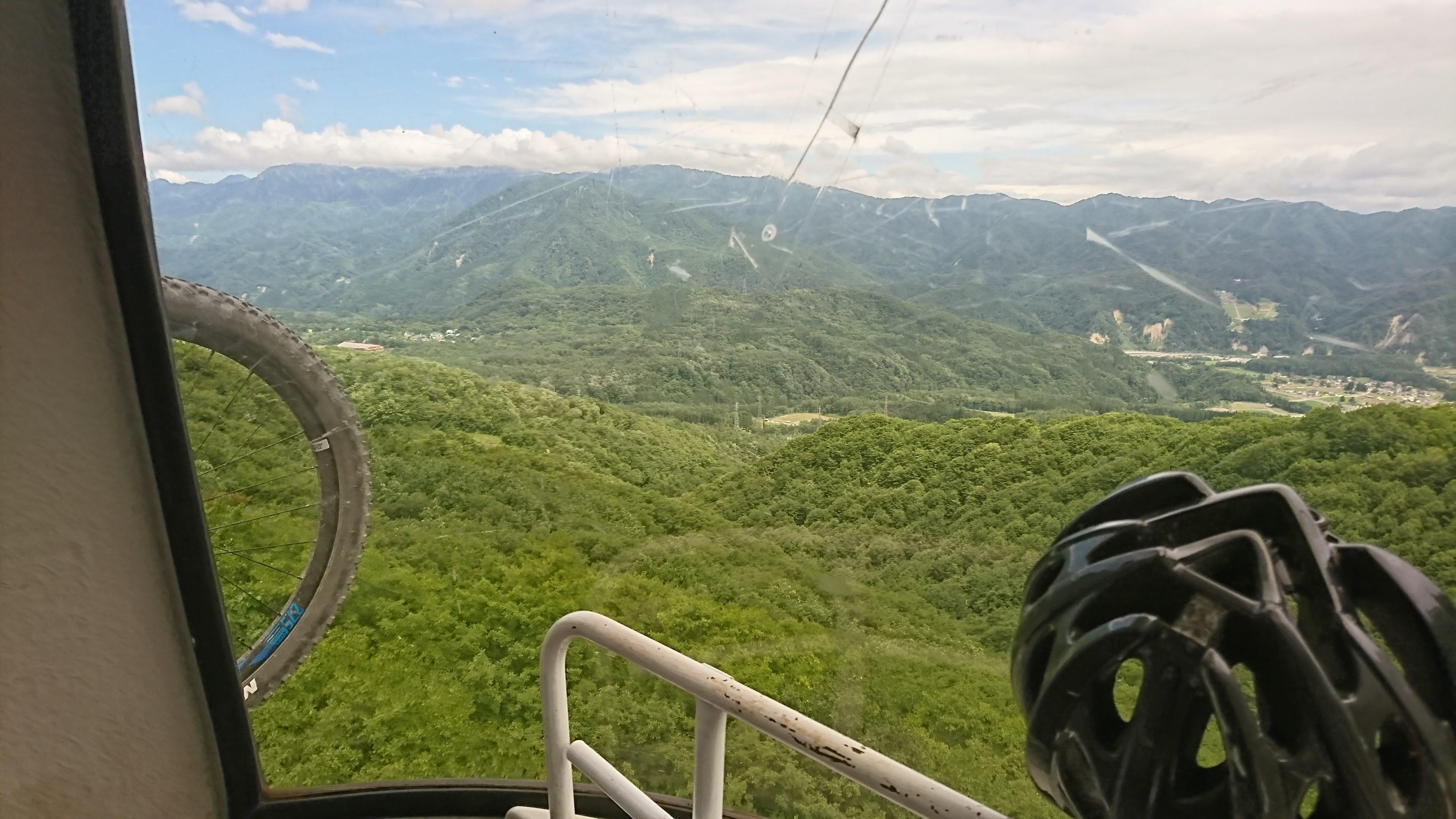 白馬岩岳MTBコースへ行ってきた
