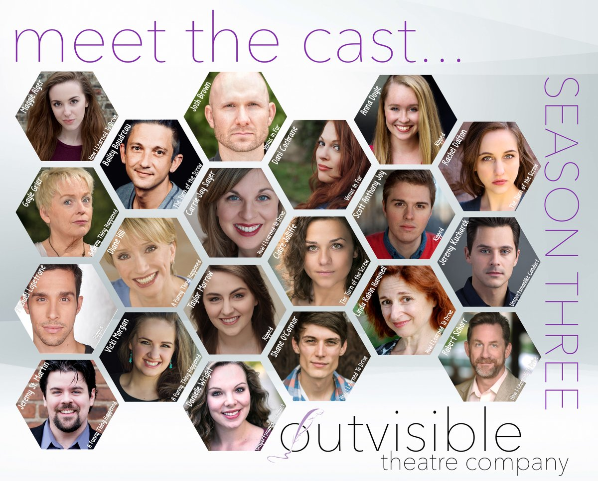 Cast announcement for Outvisible's 2018/19 Season.