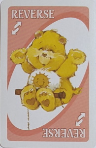 Care Bears Pink Uno Reverse Card