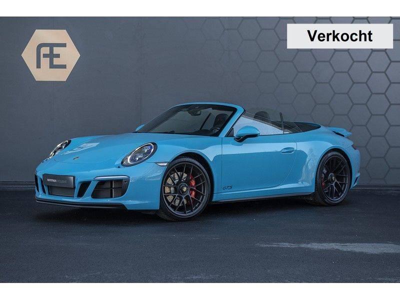 Porsche 911 GTS Carrera Cabriolet 3.0 MIAMI BLUE + SPORTUITLAAT + BTW MIAMI BLUE + SPORTUITLAAT afbeelding 1
