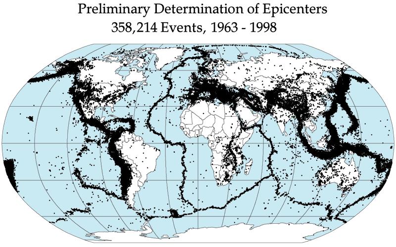Quake epicenters