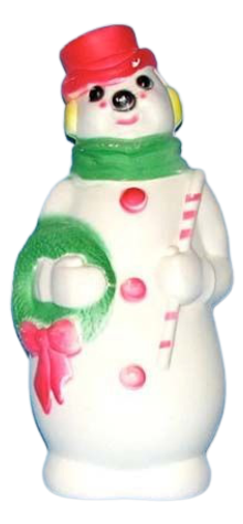 Snowman Lamp photo