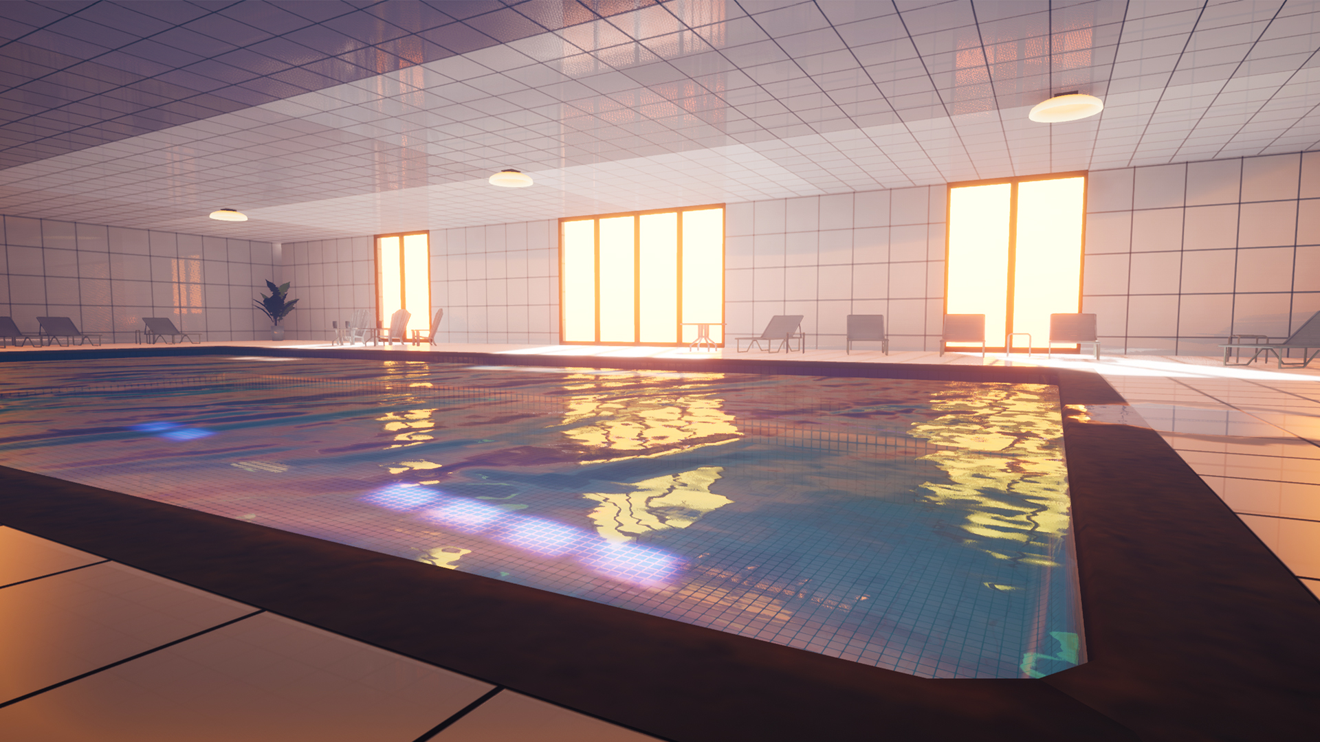Looking at an indoor pool