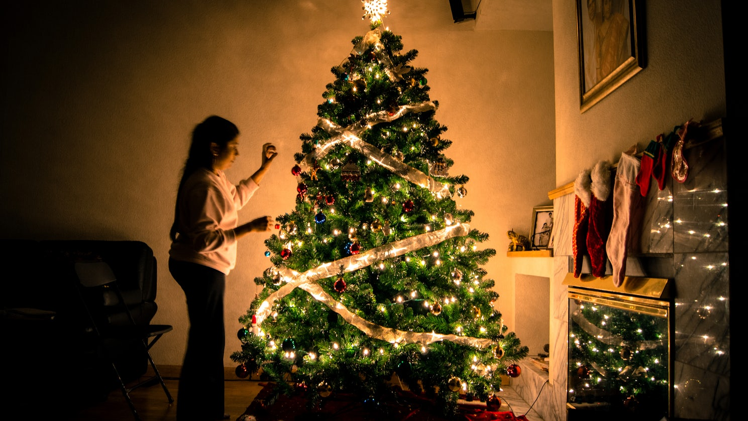 Decorating the Christmas tree is a tradition across the world