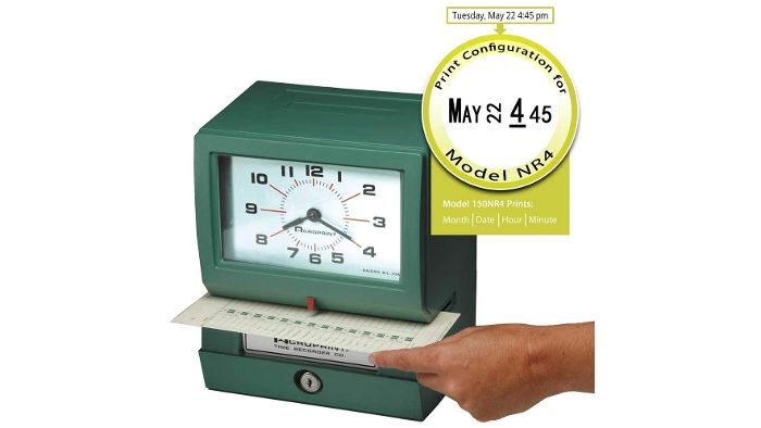 150NR4 Heavy-Duty Automatic Time Clock