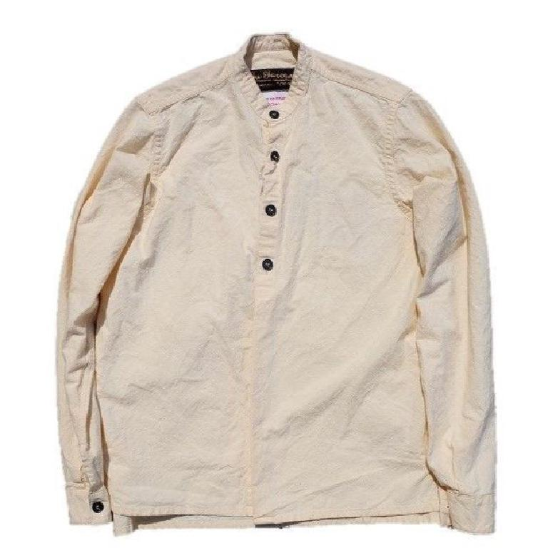 Banded Collar Popover Work Shirt