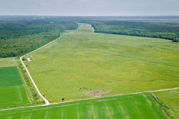 Luftaufnahme Grundstück und Boden