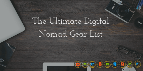 The following list is specifically created for Digital Nomads but can be used by any Long/Short Term Traveler. All the items in this list are must have.