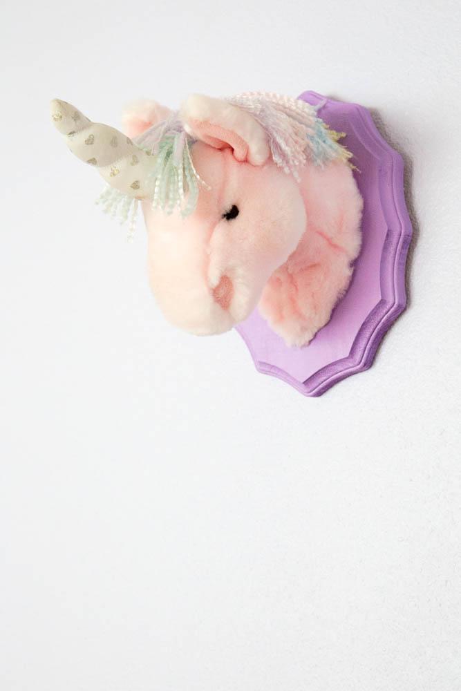 unicorn head mounted